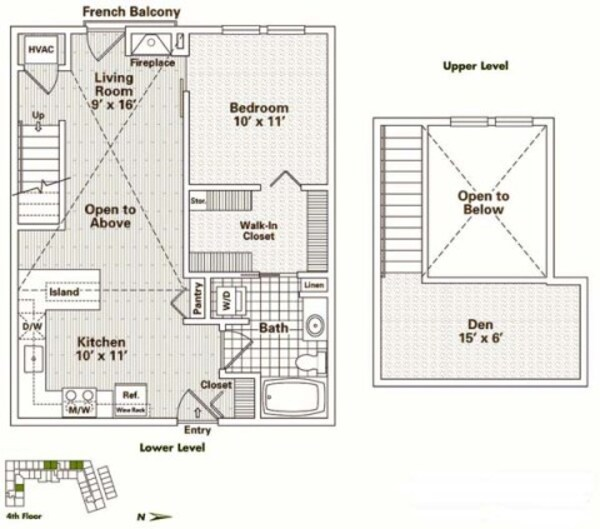1 Bedroom + Den Loft (A6, A7)