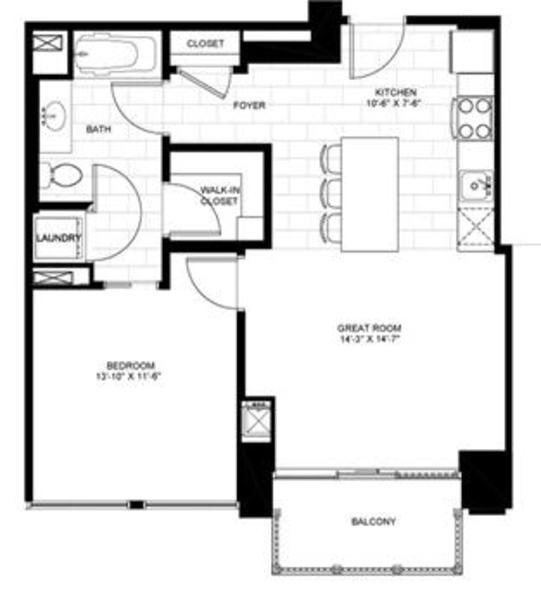 One Bedroom 05A 05B