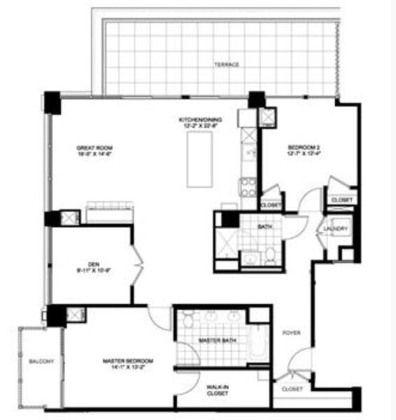 Two Bedroom Penthouse 2501