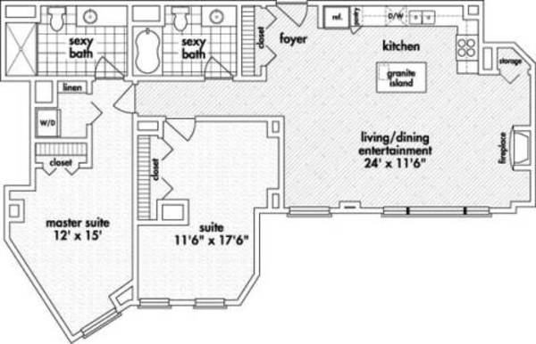 Two Bedroom, Two Bath (C10)
