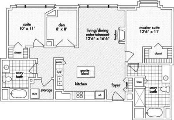 Two Bedroom, Two Bath (C12)