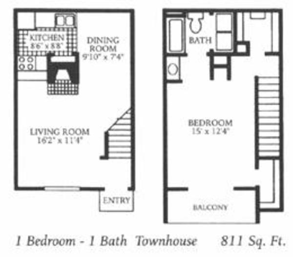 1 Bed 1 Bath Townhome