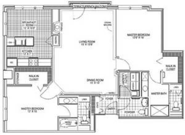 Two Bedroom, Two and a Half Bath (C2)