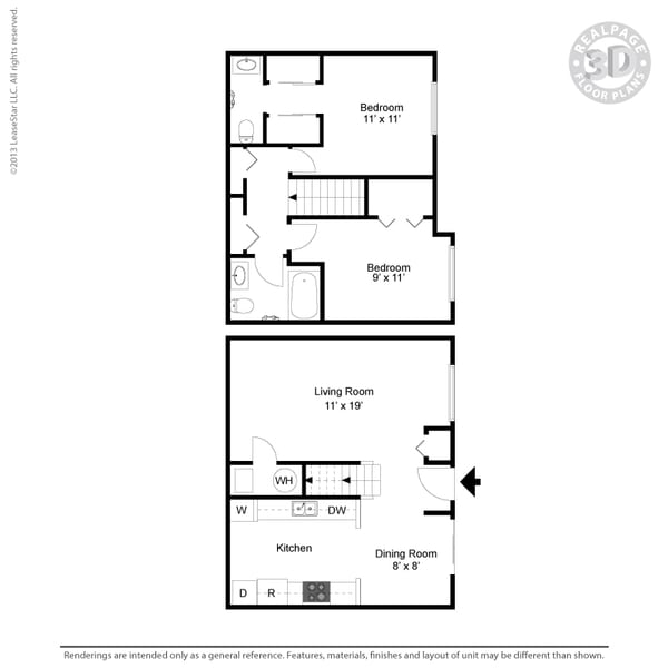 Two-Bedroom Townhome #2