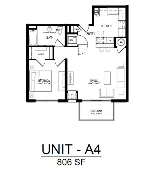 211 1 Bedroom 1 Bath