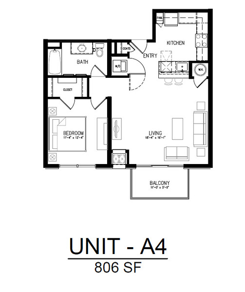 311 1 Bedroom 1 Bath