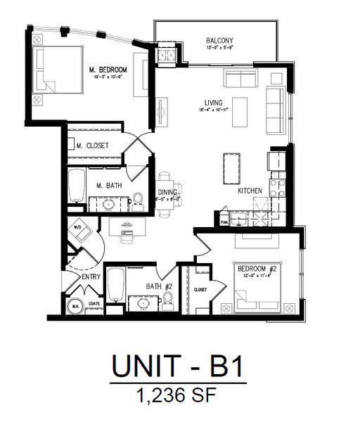 401 2 Bedroom 1 Bath