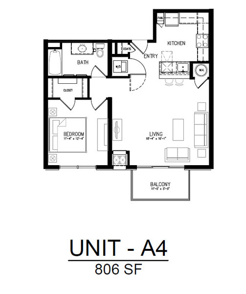 411 1 Bedroom 1 Bath