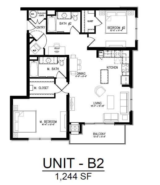 413 2 Bedroom 1 Bath