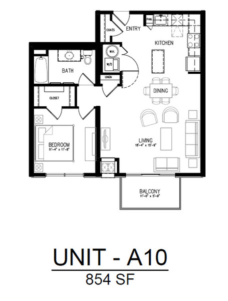 506 1 Bedroom 1 Bath