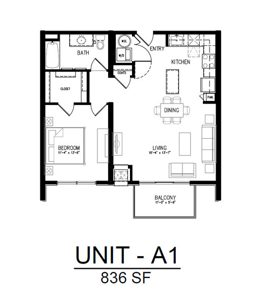 508 1 Bedroom 1 Bath