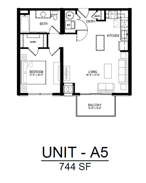 509 1 Bedroom 1 Bath