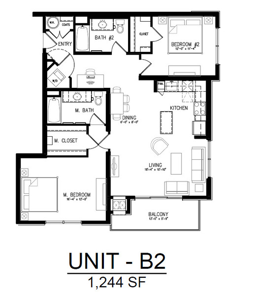 514 2 Bedroom 1 Bath