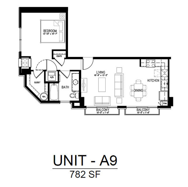 418 1 Bedroom 1 Bath