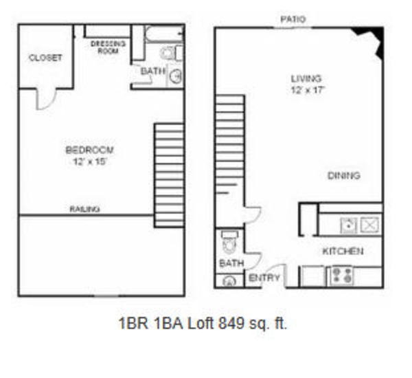 1 Bed 1.5 Bath Townhome