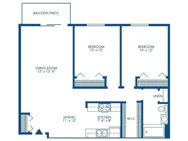 Two Bedroom w/Den - Small