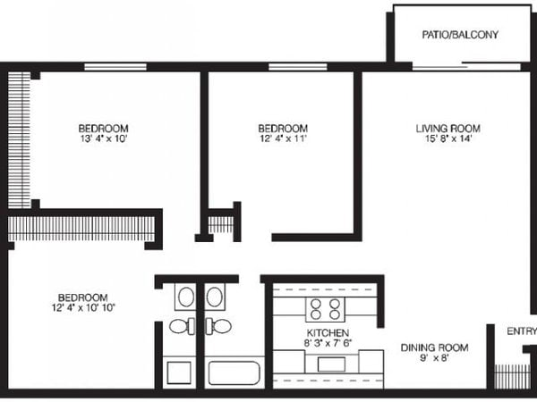 Three Bedroom - Large