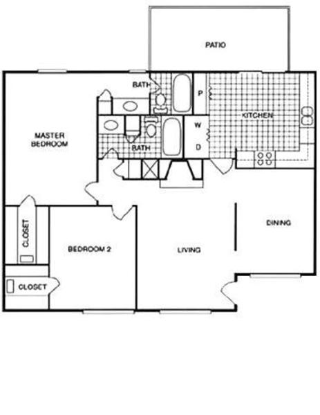 2 Bed 2 Bath KC (2D)