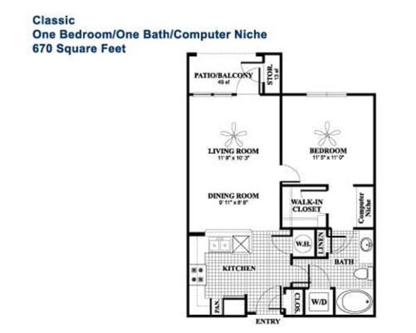 Classic - 1 Bedroom, 1 Bath