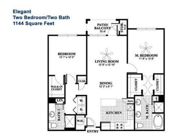 Elegant - 2 Bedroom, 2 Bath