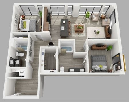 Studios 4848 Bedroom Apartments In Bellevue WA Cerasa Delectable 2 Bedroom Apartments Bellevue Wa