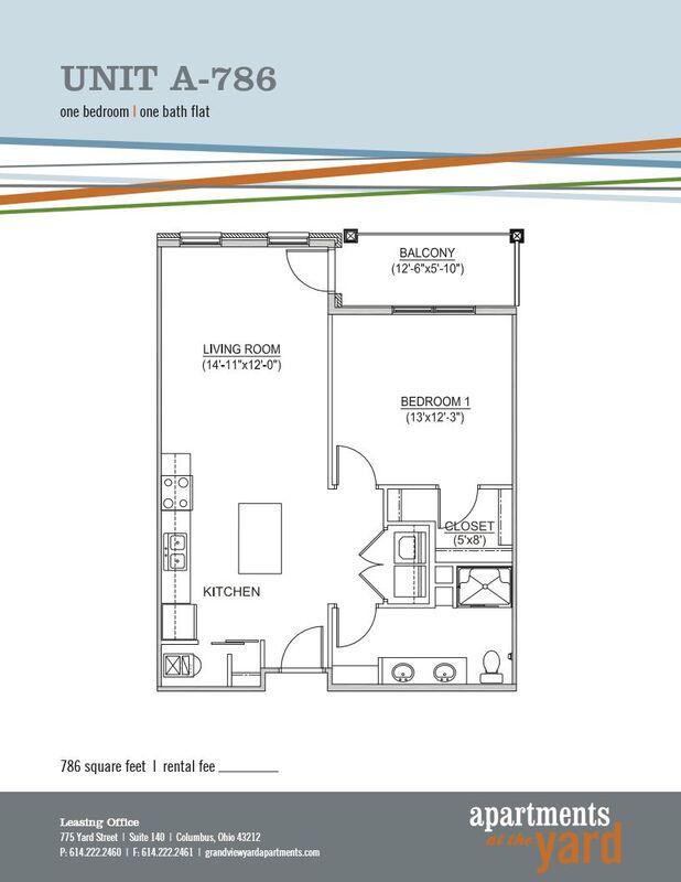 Studio Apartments 1 2 Bedroom Floor Plan Apartments At The Yard