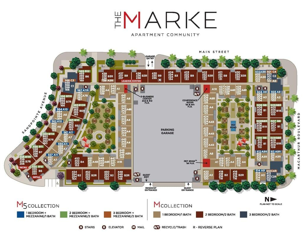 The Marke Site Map