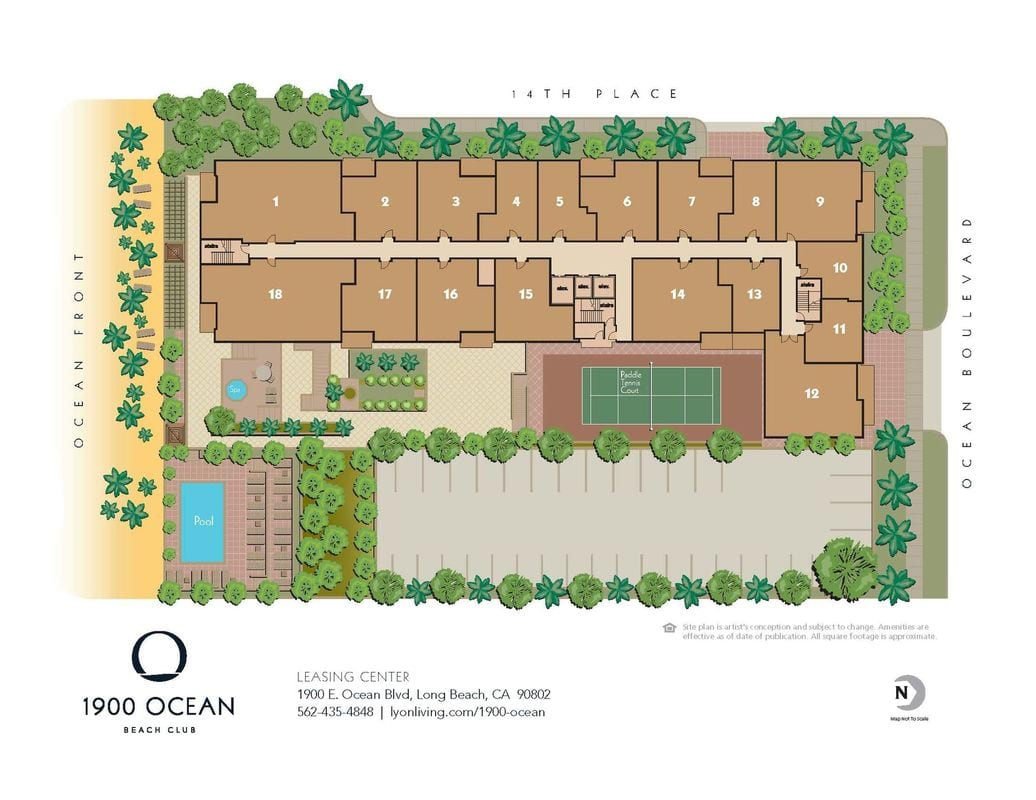 1900 Ocean Beach Club Site Map