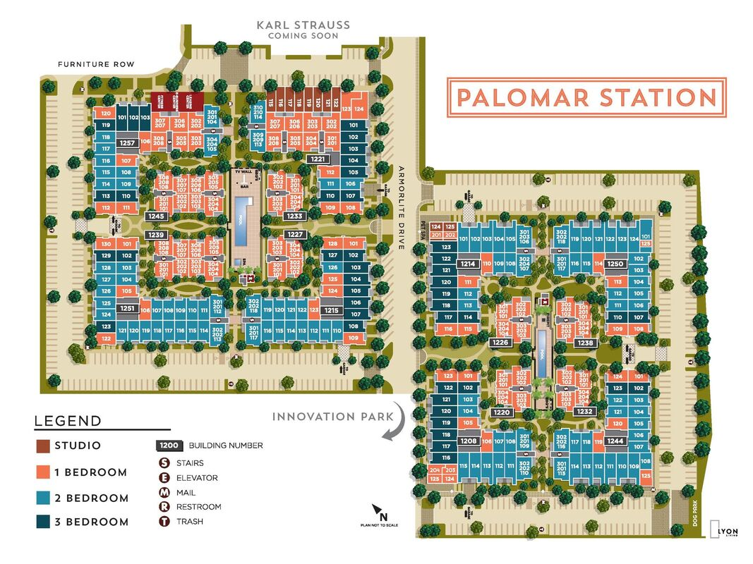 Palomar Station Site Map