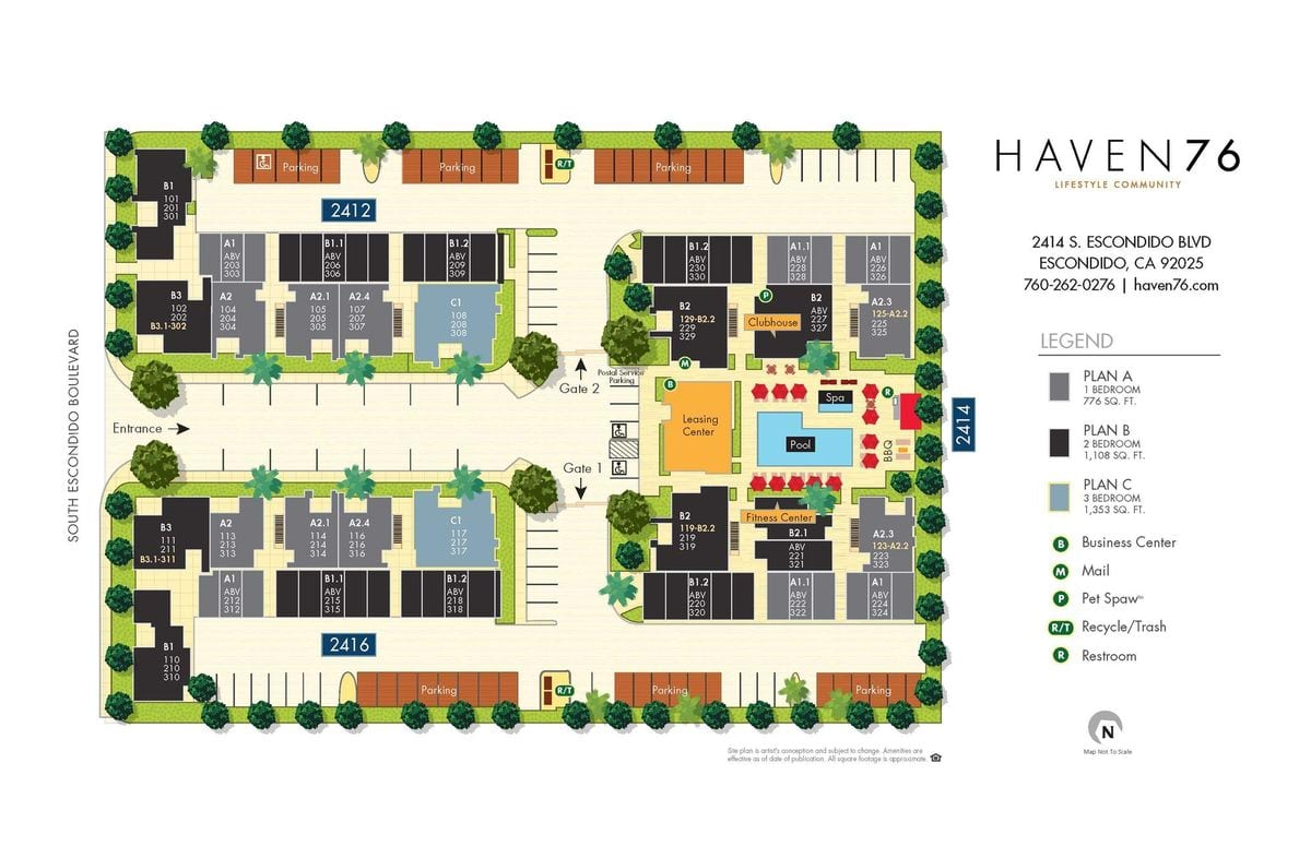 Haven 76 Site Map