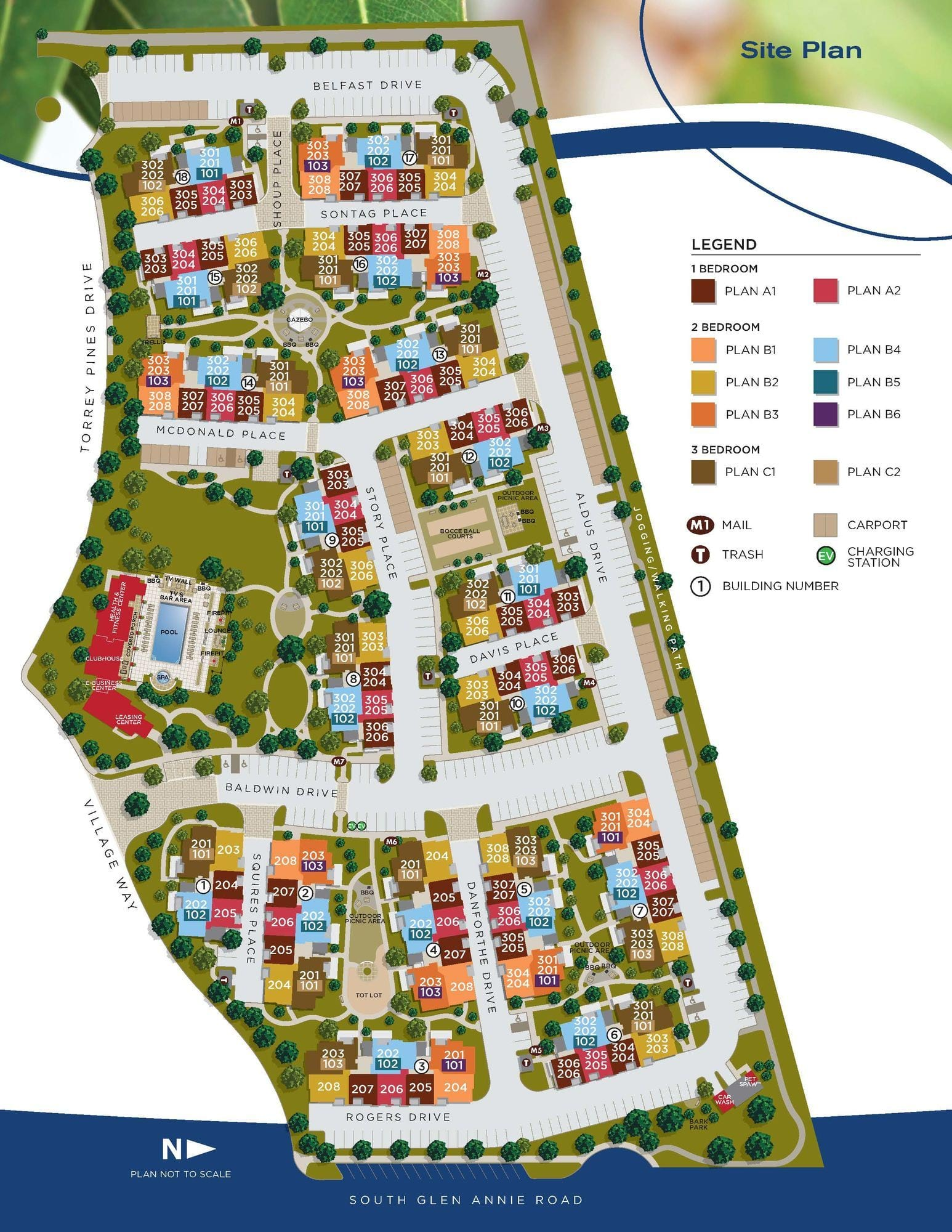 HOLLISTER VILLAGESite Map