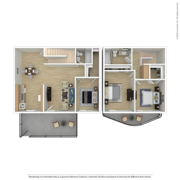 Sm 3 BR townhome