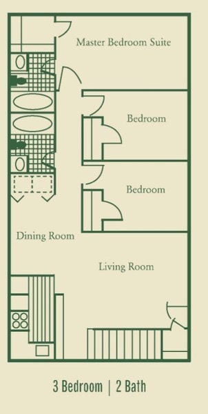 Three Bedroom Apartments