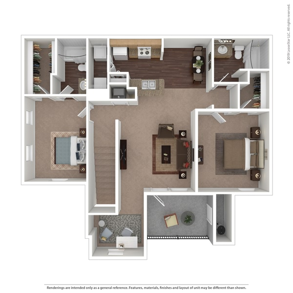 Two Bedroom w/ Study