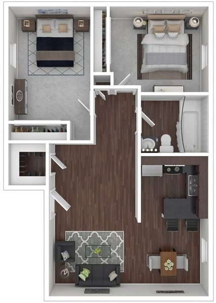 2 Bedroom, Bath