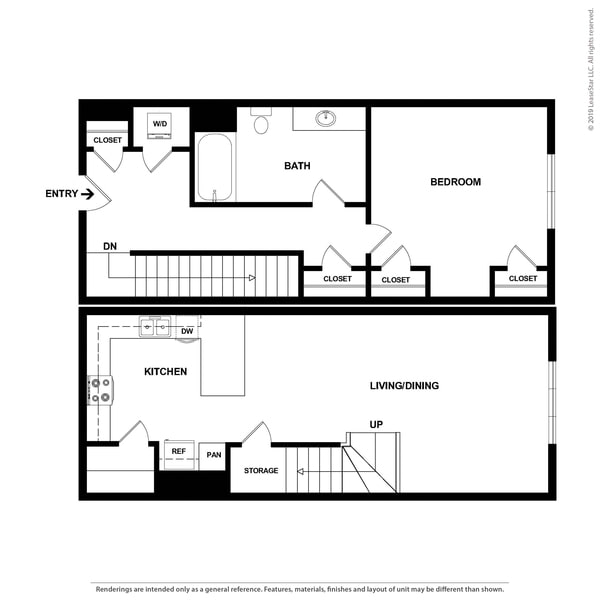 1x1 Townhome Large