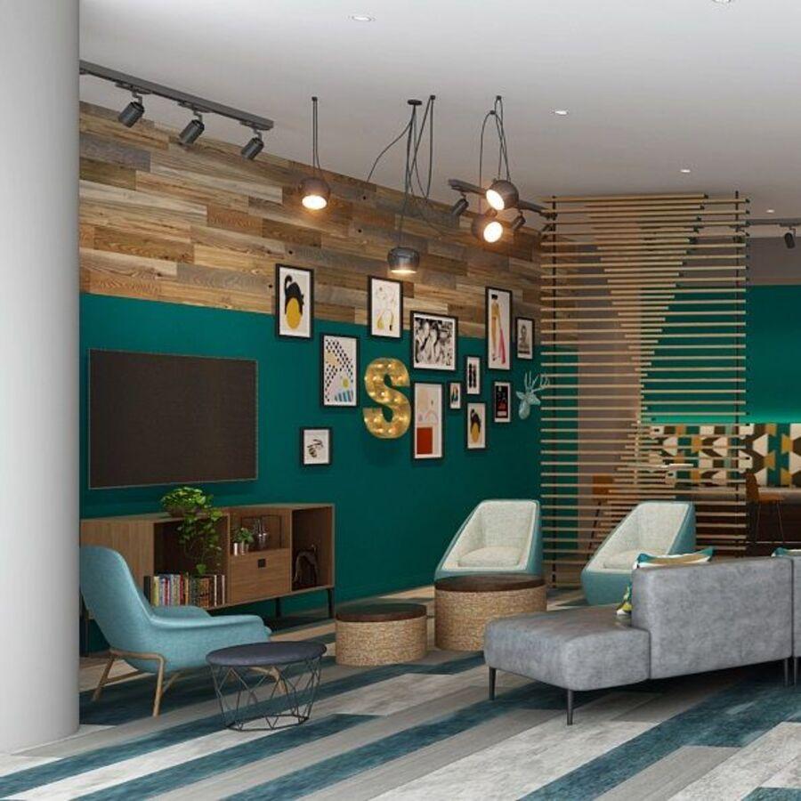 Image rendering of community space living room