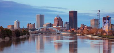 Stock image of Rochester, NY skyline