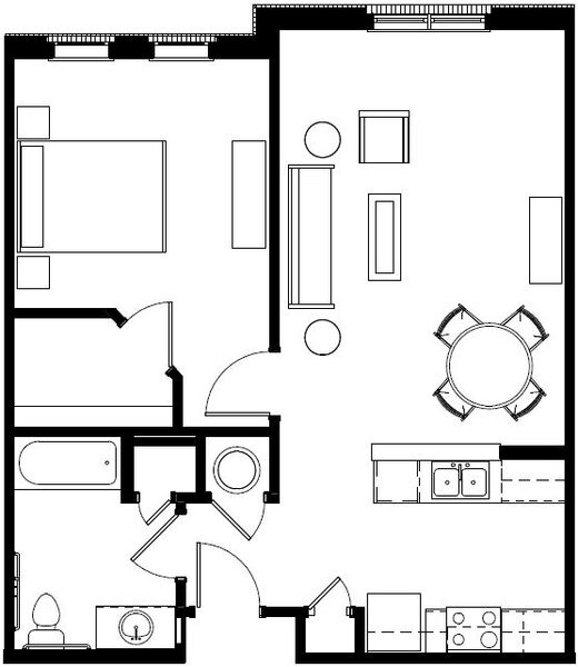 Senior 1 Bedroom Apartment