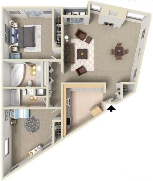 Two Bedroom Two Bathroom D
