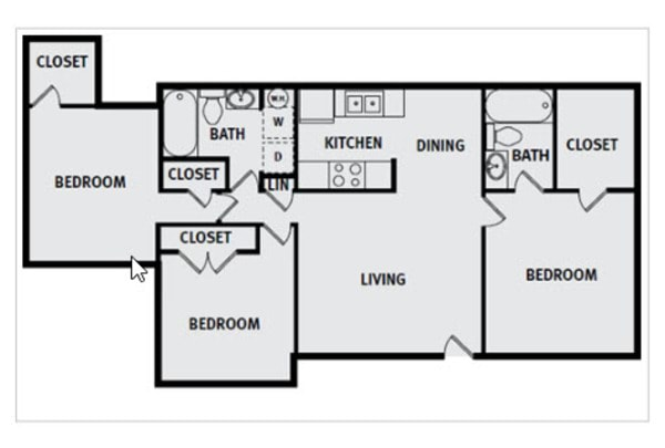 3 Bedroom 2 Bath Premium