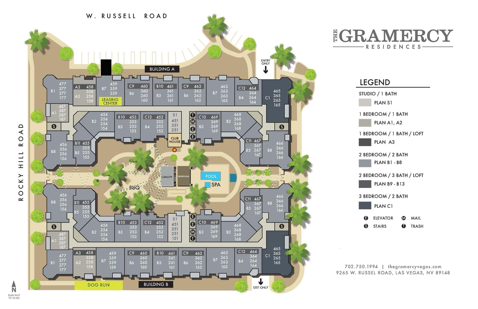 The Gramercy Residences Site Map