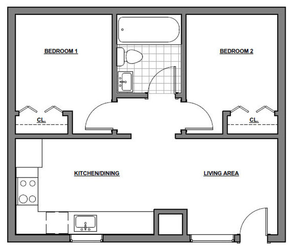 Two Bedroom - Small