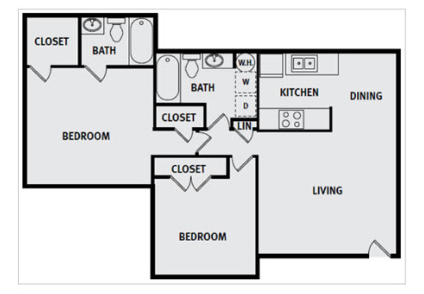 2 Bedroom 2 Bath Premium