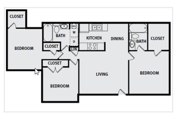 3 Bedroom 2 Bathroom