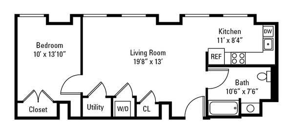 1 Bedroom Tower Side