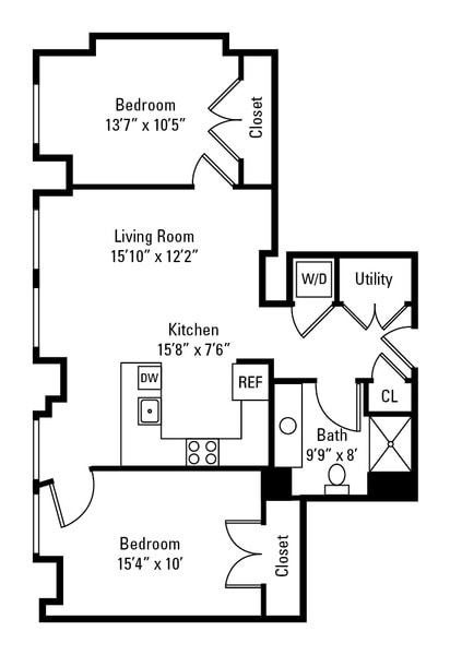 2 Bedroom Corner Main