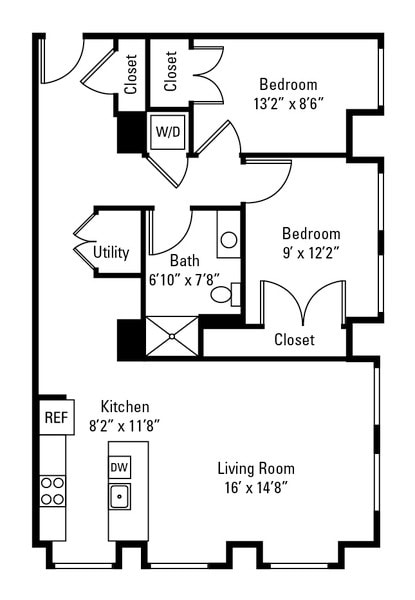 2 Bedroom Corner Low Floor