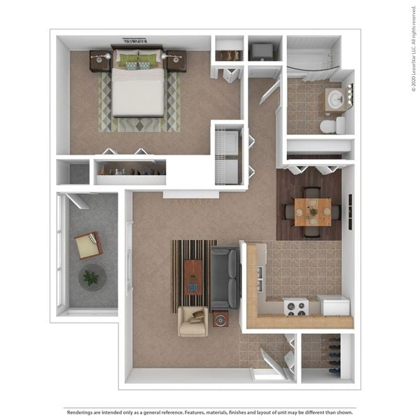 1 Bedroom 1 Bath S
