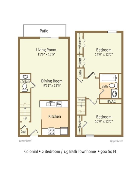2 Bedroom Duplex